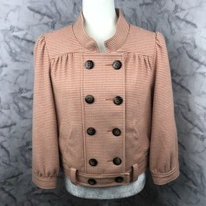 Anthropologie Idra Earhart Houndstooth Jacket